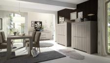 Obývací / jídelní nábytek CONTE II_volná sestava elementů - jídelna_jilm světlý imitace_obr. 8