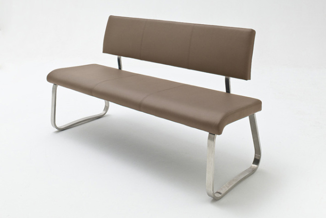 Jídelní lavice CORA kůže_cappuccino_obr. 1