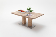 Jídelní stůl CORTES_dub bělený masiv_rovná stolní deska_obr. 3