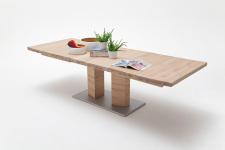 Jídelní stůl CORTES_dub bělený masiv_rozložený_rovná stolní deska_obr. 4