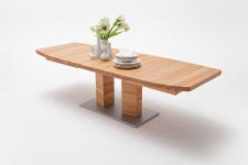 Jídelní stůl CORTES_buk kořenový masiv_rozložený_zaoblená stolní deska_obr. 6