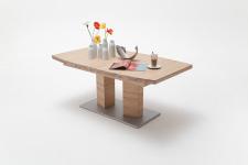 Jídelní stůl CORTES_dub bělený masiv_zaoblená stolní deska_obr. 7