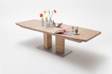 Jídelní stůl CORTES_dub bělený masiv_rozložený_zaoblená stolní deska_obr. 8