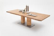Jídelní stůl CORTES_dub divoký masiv_rozložený_rovná stolní deska_obr. 10