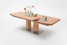 Jídelní stůl CORTES_dub divoký masiv_rozložený_zaoblená stolní deska_obr. 12