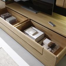 Celomasivní dubový nábytek DELGADO_detail zásuvky s dvojitým vnitřním rámem_obr. 52