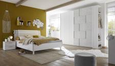 Dětský a studentský nábytek ESPERO (šedá varianta)_šatní skříň s posuvnými dveřmi (3D-optika) 243 cm_postel 160 cm + čalouněný díl_noční stolek_regál na šaty s 2 policemi a tyčí na ramínka, v. 230 cm_obr. 2