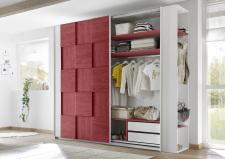 Šatní skříň s posuvnými dveřmi ESPERO (3D-optika) 243x230 cm_otevřená_zásuvková vložka + police_typy_671705-243-R_676602-41_676602-243-7_obr. 11