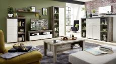 Obývací nábytek DEVON_sestava 10 E4 DW 81 + highboard 22 + konf. stůl 29 E4 DW 02_obr. 1
