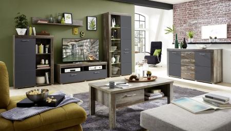 Obývací nábytek DEVON graphit_sestava 10 E4 DG 81 + sideboard 20 + konf. stůl 29 E4 DG 02_obr. 3