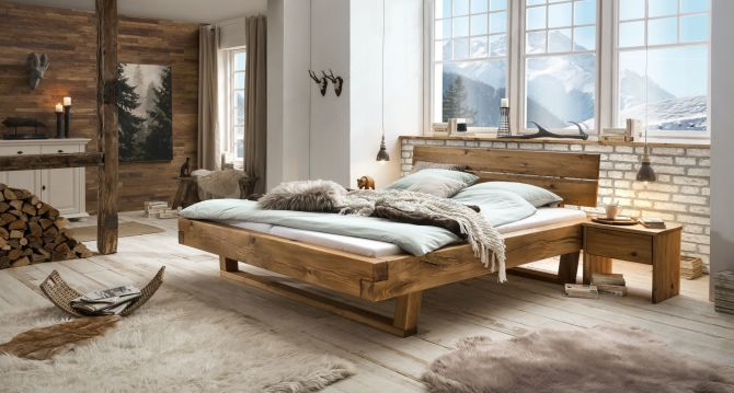 Dubová masívna posteľ JANE