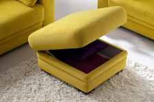 Modena 1040, taburet s úložným prostorem v látce Hudson yellow