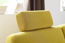 Modena1040, volně přemístitelná opěrka hlavy v látce Hudson yellow