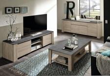 Elba_obývací pokoj, dub bělený dekor_horní desky v dekoru