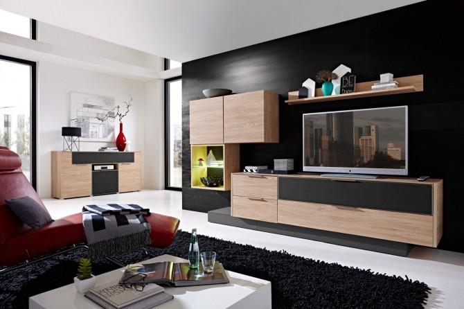 Obývací stěna MEDIAN HH_návrh 2_+ Media-sideboard typ 20