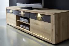 Nábytek Twist - detail TV-spodního dílu s LED osvětlením
