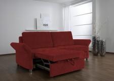 Rozkládací pohovka MULTIFLEXX PLUS_ se separátním rozkládáním každého sedacího místa_v látce Marche rot_područka typ 3, obr. 2