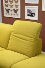 Sedací souprava ONTARIO 1031_polohování opěrek hlavy_v látce Easy care Yellow (2)