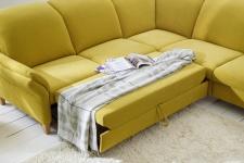 Sedací souprava ONTARIO 1031_funkce na spaní_područka B_v látce Easy care Yellow