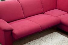 Sedací souprava ONTARIO 1031_komfortní lůžko_v látce Onyx red