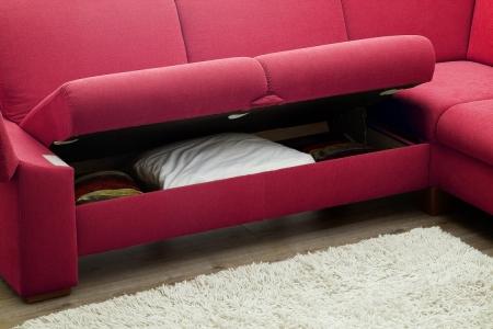 Sedací souprava ONTARIO 1031_komfortní lůžko s úložným prostorem_v látce Onyx red