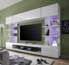 Obývací / TV stěna TRES, šikmý pohled