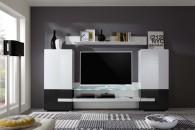 Obývací  TV stěna MEDIA X1, čelní pohled