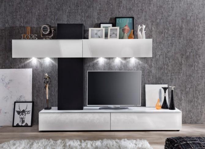 Obývací MEDIA / TV stěna GIRO, čelní pohled