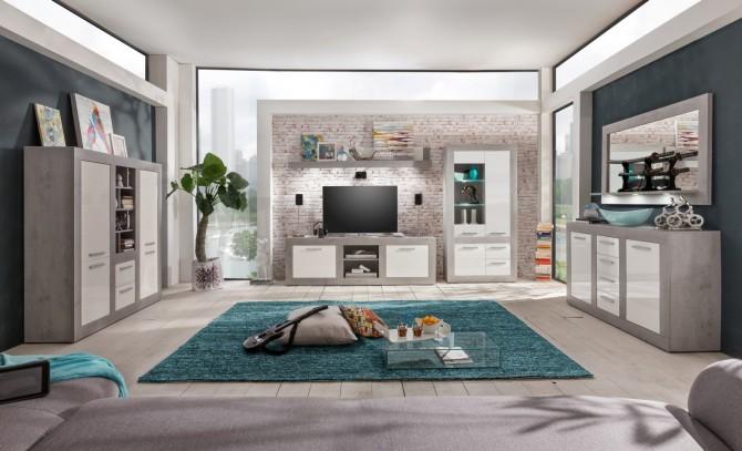 Obývací nábytek PURE_typy 1516-864+318+483+136+870+451-35