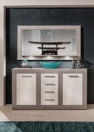 Sideboard + zrcadlo PURE_typy 1516-870+451-35
