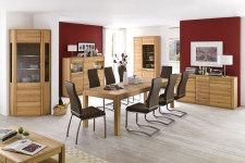 Jídelní židle NELA II. v interieru_mix s židlí NELA_hnědá_obr. 5
