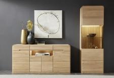 Obývací a jídelní nábytek GLOBE_typy 874 + 131_záda vitrin dřevo_obr. 13