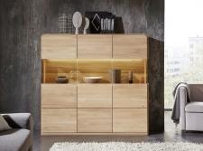 Obývací a jídelní nábytek GLOBE_highboard 862_záda vitriny dřevo_obr. 15