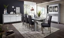 Obývací / jídelní program GRACE white_sestava 40 54 3W 84 + sideboard 21_jídelní stůl 29 54 3W 01 + jídelní lavice 29 54 3W 03 + jídelní židle PABLO 2H 03 3O 70_obr. 3