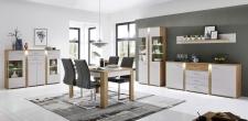 Obývací / jídelní nábytek GRENADA_sestava typů 22 + 02 + 20 + 40 a jídelní stůl 29 E9 2M 01_obr. 3