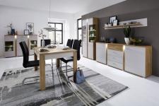 Obývací / jídelní nábytek GRENADA_sestava typů 22 + 02 + 20 + 40 + jídelní stůl 29 E9 2M 0_varianta_obr. 4