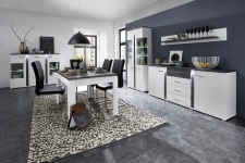 Obývací / jídelní nábytek GRENADA white_sestava typů 22 + 02 + 20 + 40 + jídelní stůl 29 E9 WT 01_obr. 7