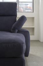 Sedací souprava IMPERIA  v látce Deluxe dark blue, detail polohovatelné područky
