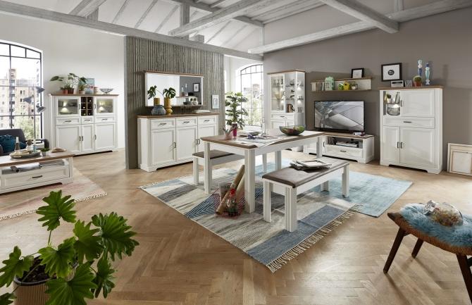 Obývací /jídelní nábytek JASPER_ob. sestava 10 G9 UH 82 + typy 20 + 50 + 22 + konf. stůl 20 G9 UH 02 + jídelní stůl 20 G9 UH 01 + 2x lavice 20 G9 UH 03_obr. 1