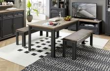 Jídelní stůl JASPER graphit 20 G9 GH 01 nerozložený + 2x lavice 20 G9 GH 03_obr. 15