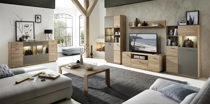 Obývací stěna LAVA 46 03 HM 81 + sideboard 21 + konf. stůl_obr. 1