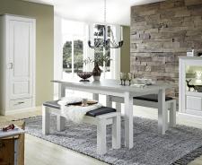Jídelní stůl LIMA 29 29 UU 01 rozložený (1 nástavná deska) + 2x lavice 29 29 UU 03