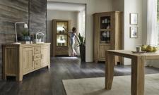 Obývací a jídelní nábytek LOFT_divoký dub Bianco masiv_obr. 5