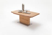Jídelní stůl LORENZO_dub divoký masiv_zaoblená stolní deska_obr. 4
