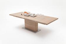 Jídelní stůl LORENZO_dub bělený masiv_rozložený_rovná stolní deska_obr. 6