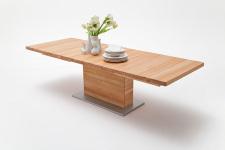 Jídelní stůl LORENZO_buk kořenový masiv_rozložený_rovná stolní deska_obr. 8