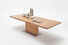Jídelní stůl LORENZO_dub divoký masiv_rozložený_rovná stolní deska_obr. 9