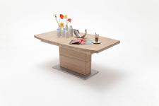 Jídelní stůl LORENZO_dub bělený masiv_rovná stolní deska_obr. 11