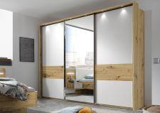 Ložnicový nábytek GEMMA_ šatní skříň s posuvnými dveřmi 3-dveřová a okrasným rámem s LED osvětlením_ obr. 2
