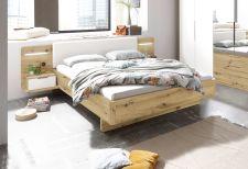 Ložnicový nábytek GEMMA_ postelový komplet s nočními stolky a panely s LED osvětlením_ obr. 3